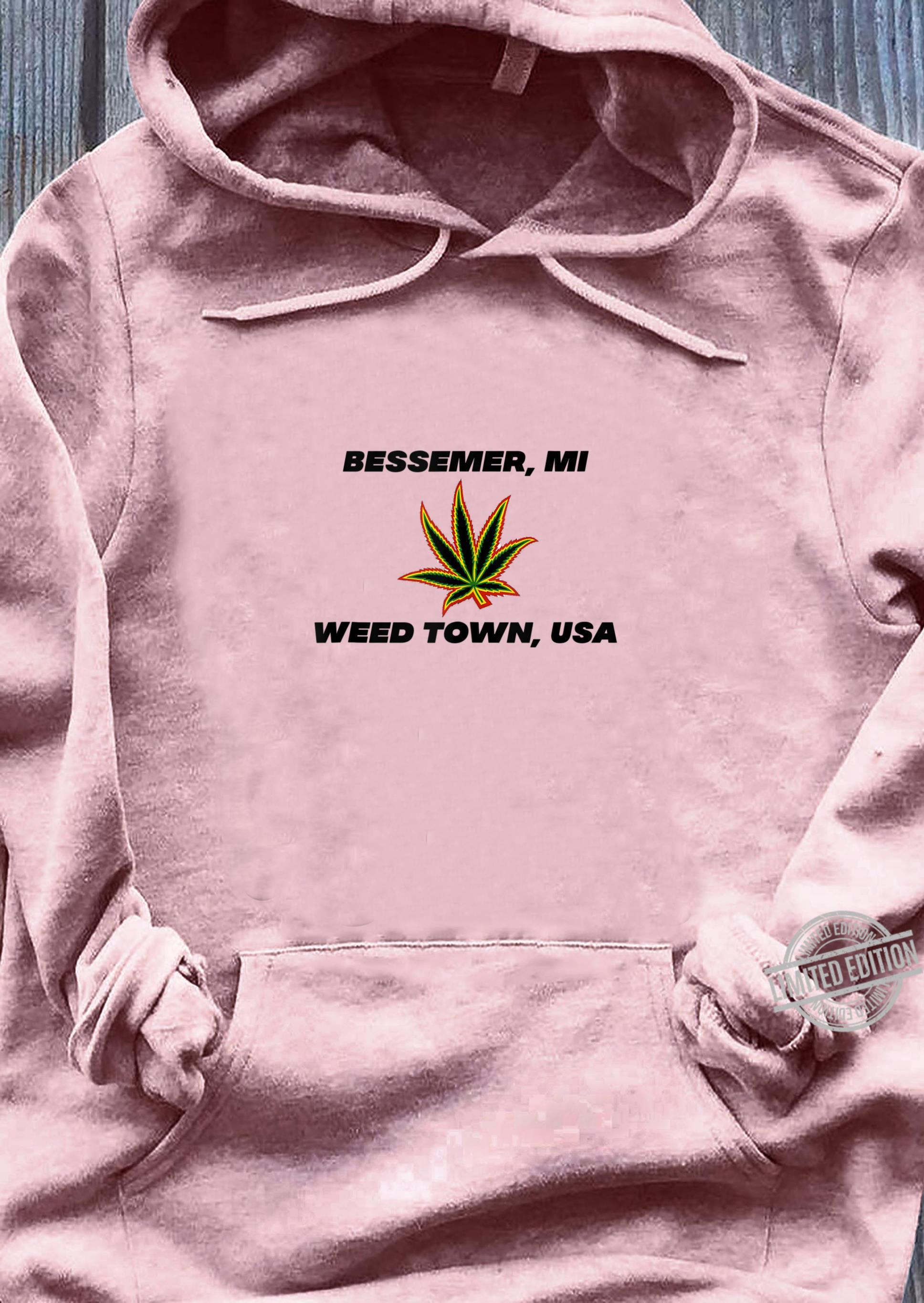 49911 Bessemer Michigan Weed Town, USA Shirt ladies tee
