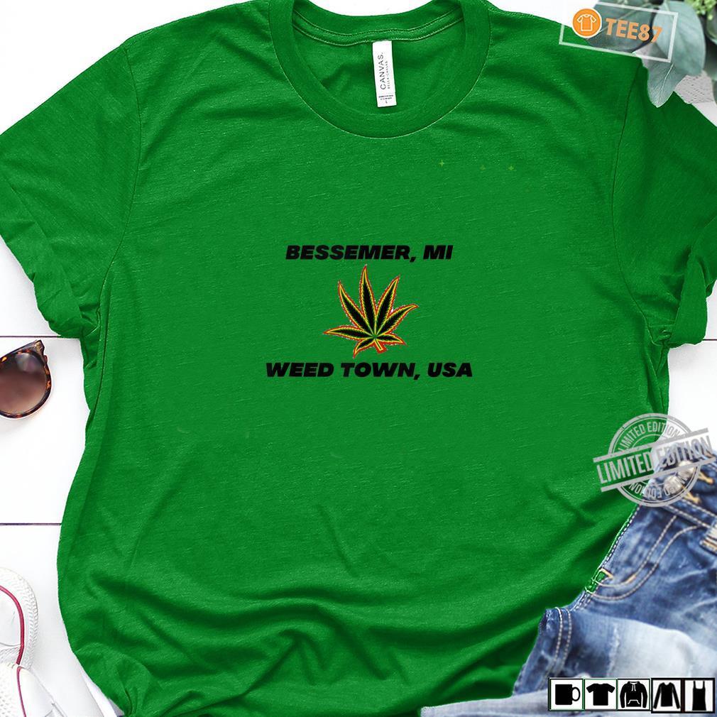 49911 Bessemer Michigan Weed Town, USA Shirt long sleeved