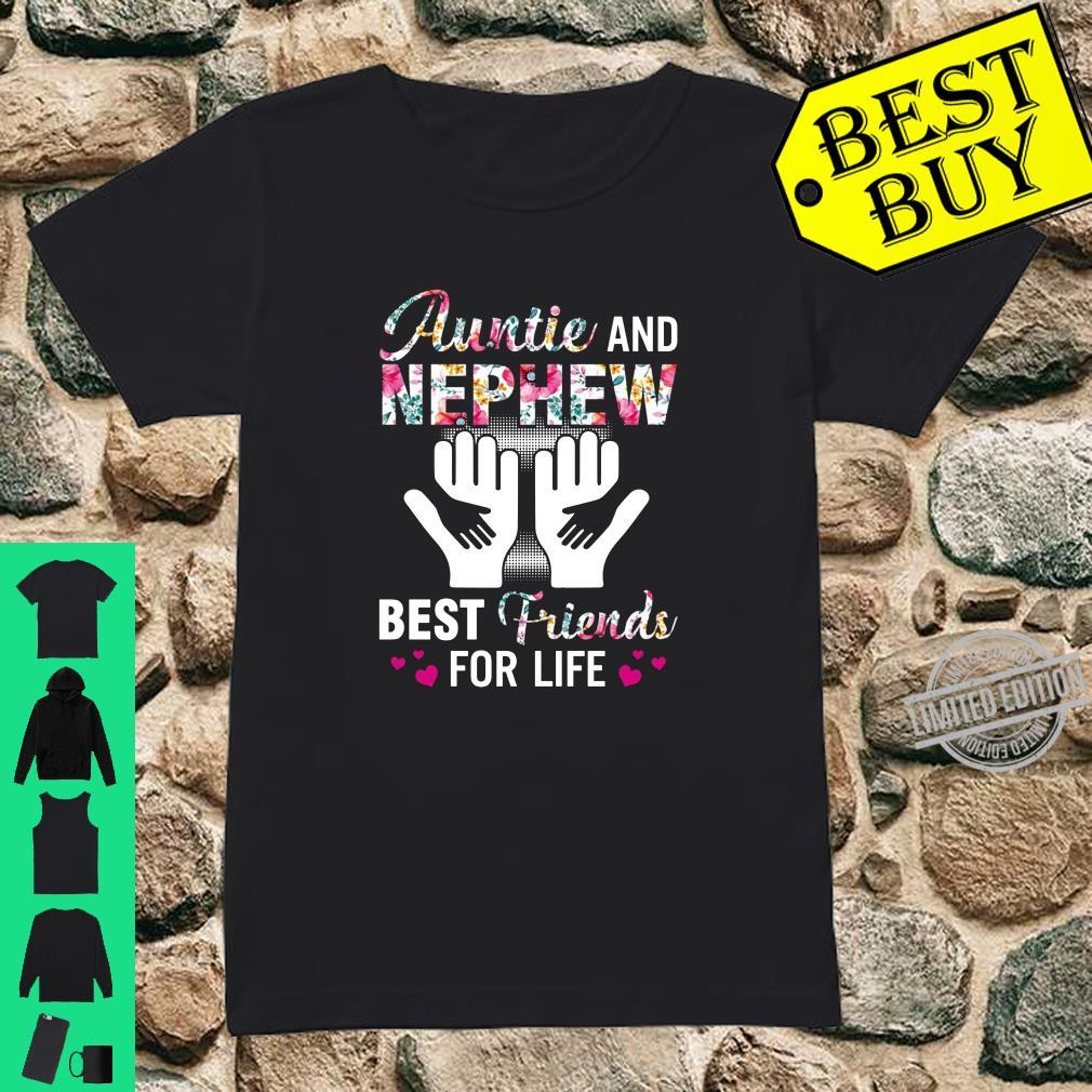 Auntie and nephew best friends for life shirt ladies tee