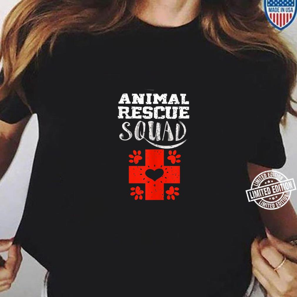 Cool Animal Rescue Squad Veterinary Team Shirt ladies tee