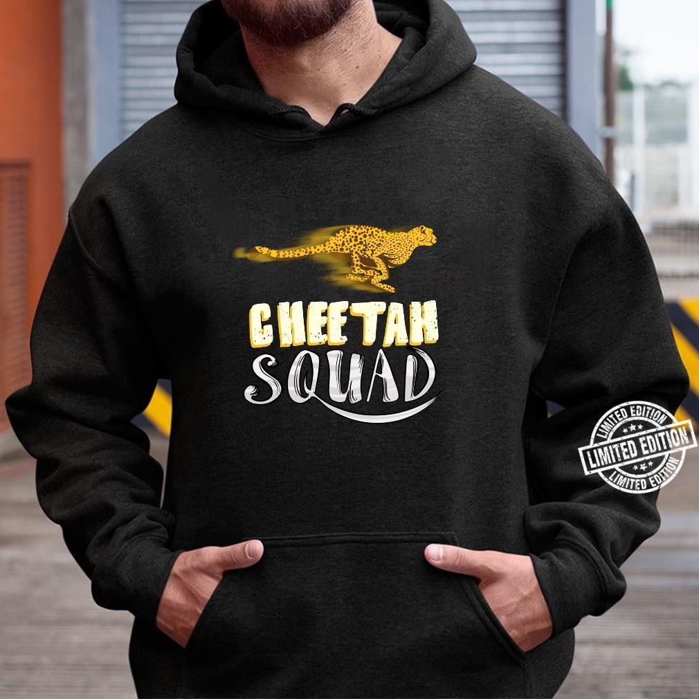 Cool Cheetah Squad Large Cat Group Fan Shirt hoodie
