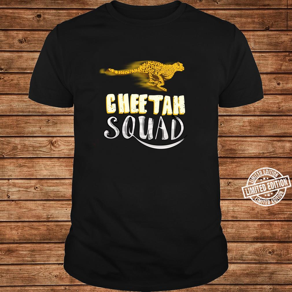 Cool Cheetah Squad Large Cat Group Fan Shirt long sleeved