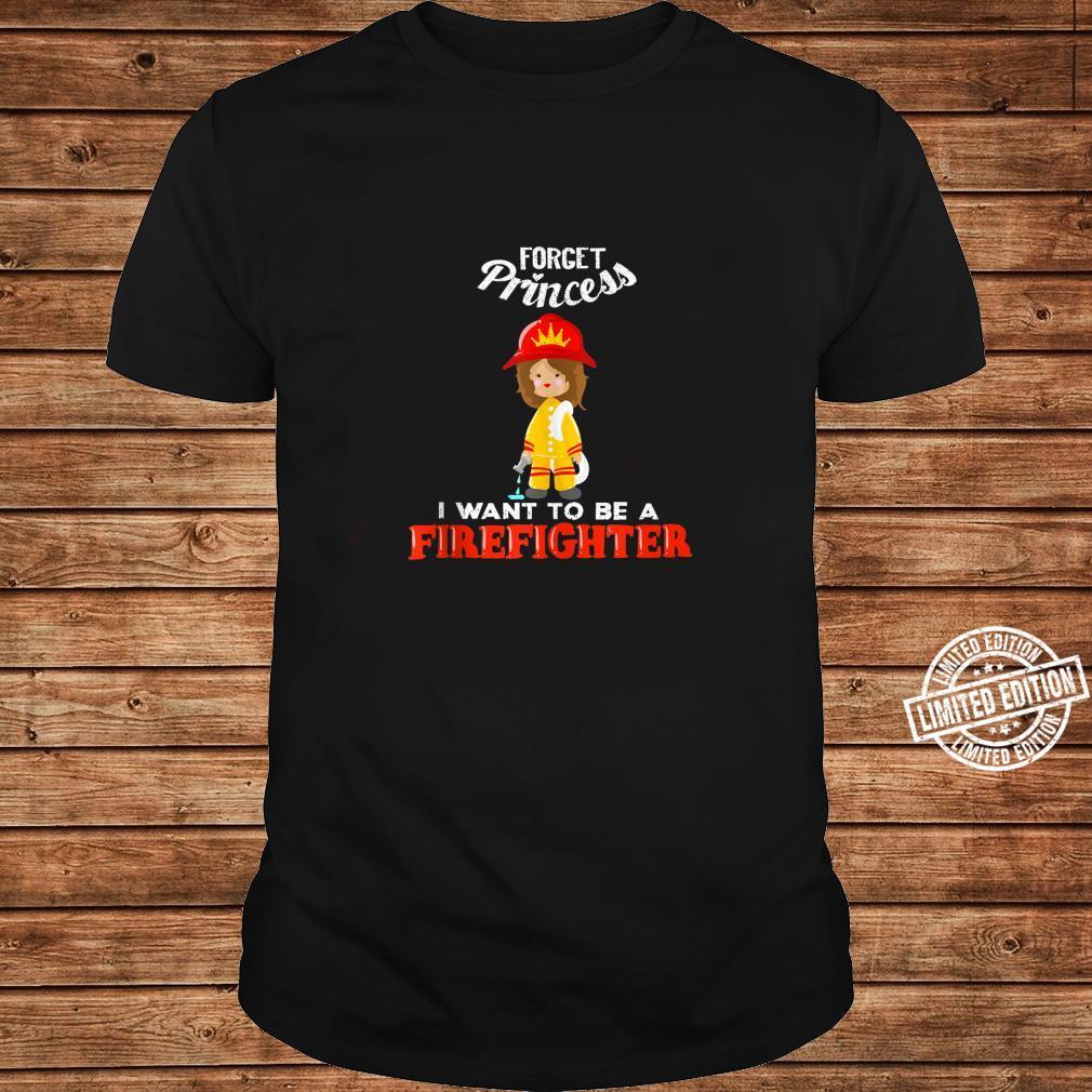 Cool Forget Princess Firefighter Fire Fan Shirt long sleeved