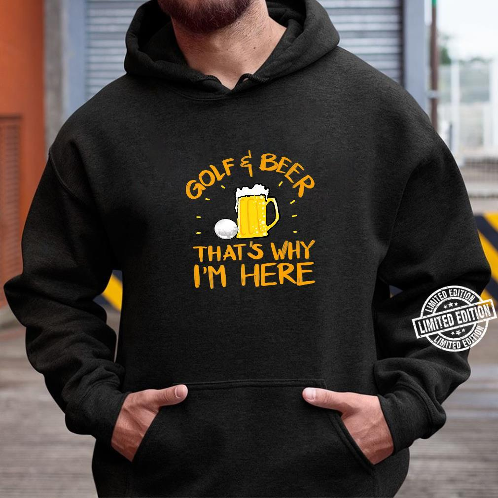 Cool Golf And Beer Game Player Alcohol Drinker Shirt hoodie