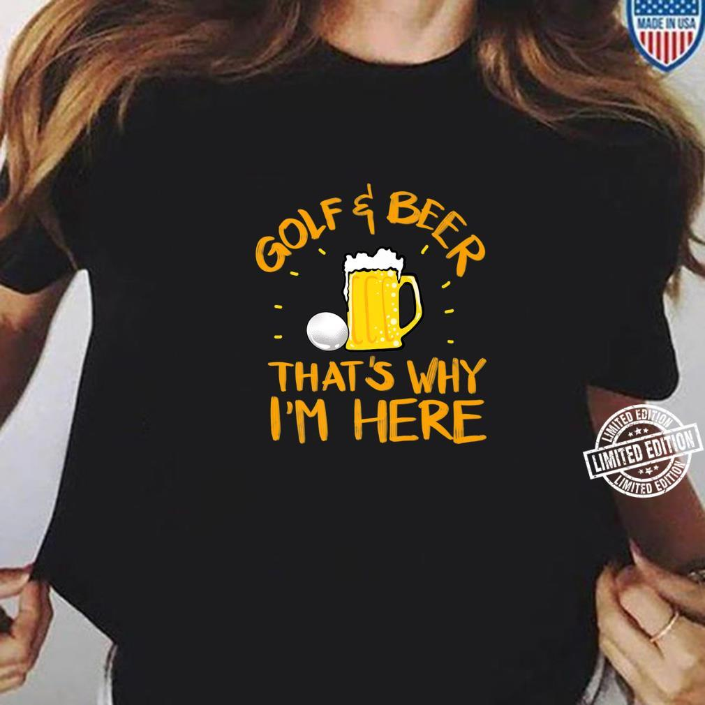 Cool Golf And Beer Game Player Alcohol Drinker Shirt ladies tee