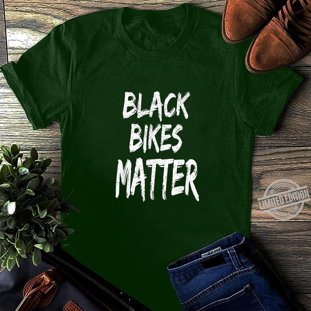 Funny Black Bikes Matter Motorcycle Biker Shirt long sleeved