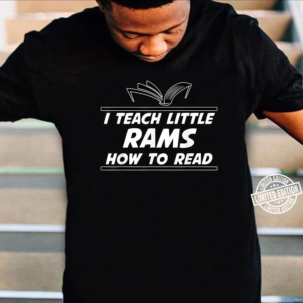 I Teach Little Rams School Spirit Reading Teacher Shirt