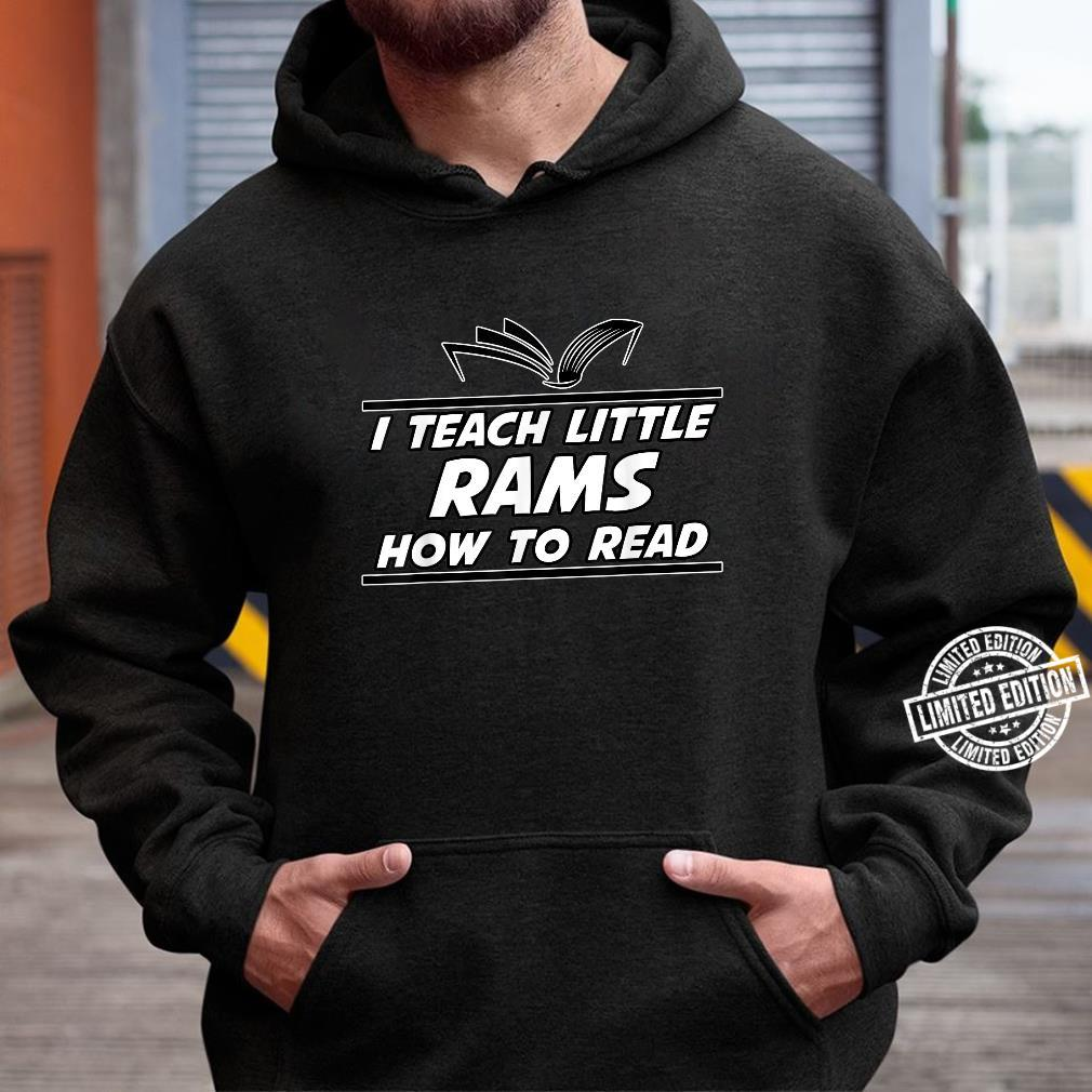I Teach Little Rams School Spirit Reading Teacher Shirt hoodie