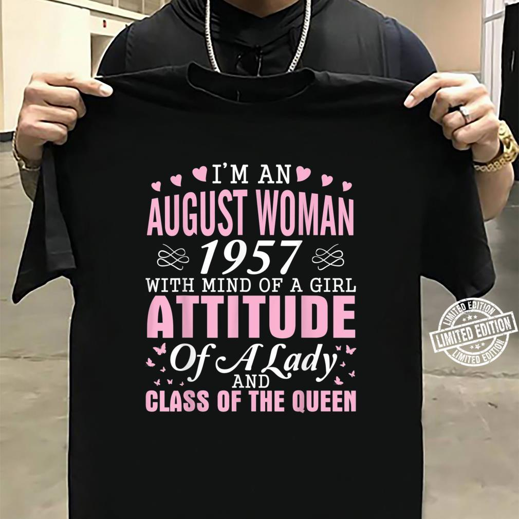 I'm An August 1957 Happy Birthday A Queen 63 Years Old Shirt sweater