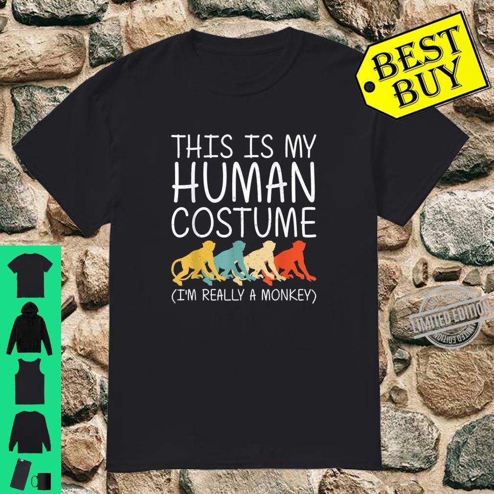 Monkey Halloween Human Costume Primate Baboon Easy DIY Shirt