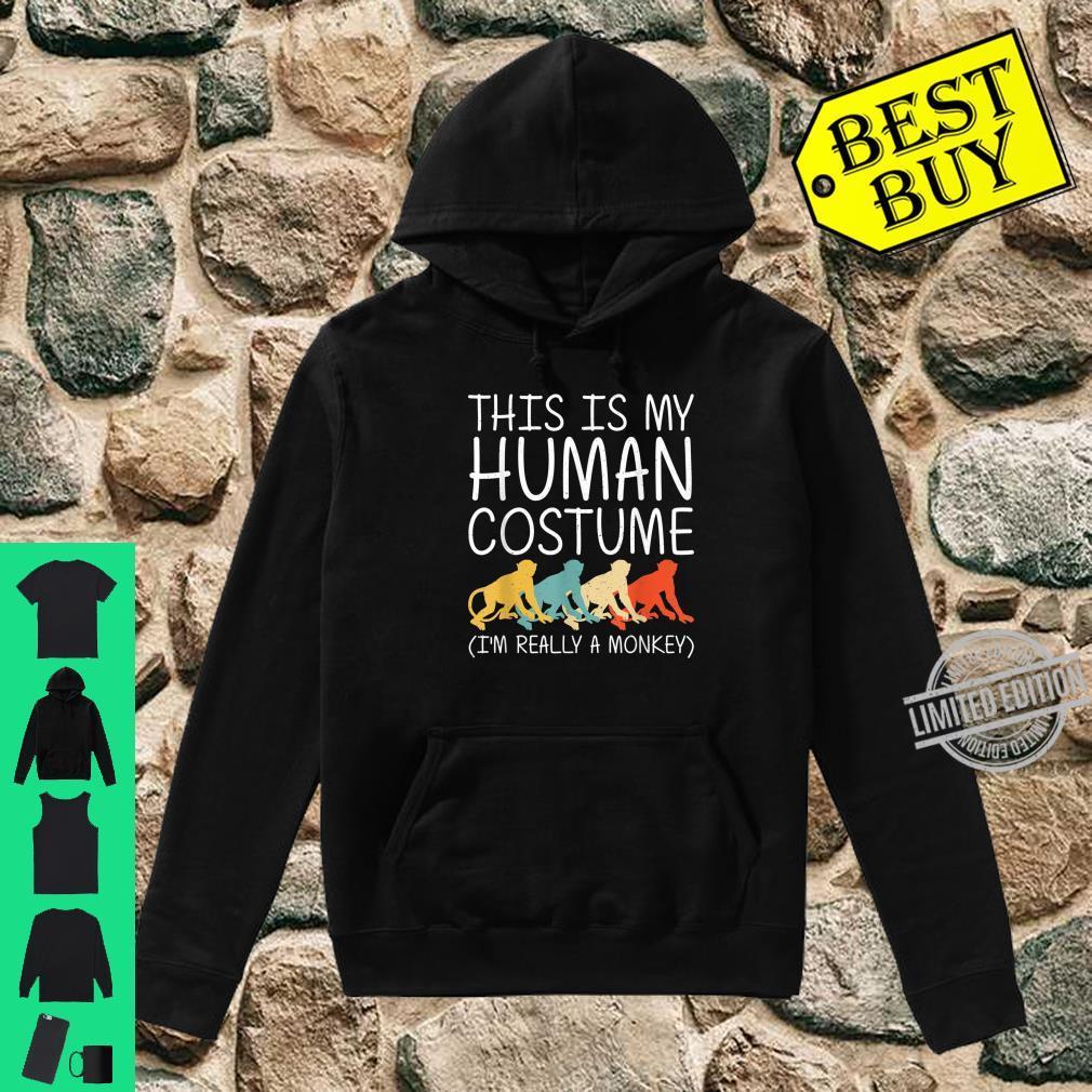 Monkey Halloween Human Costume Primate Baboon Easy DIY Shirt hoodie
