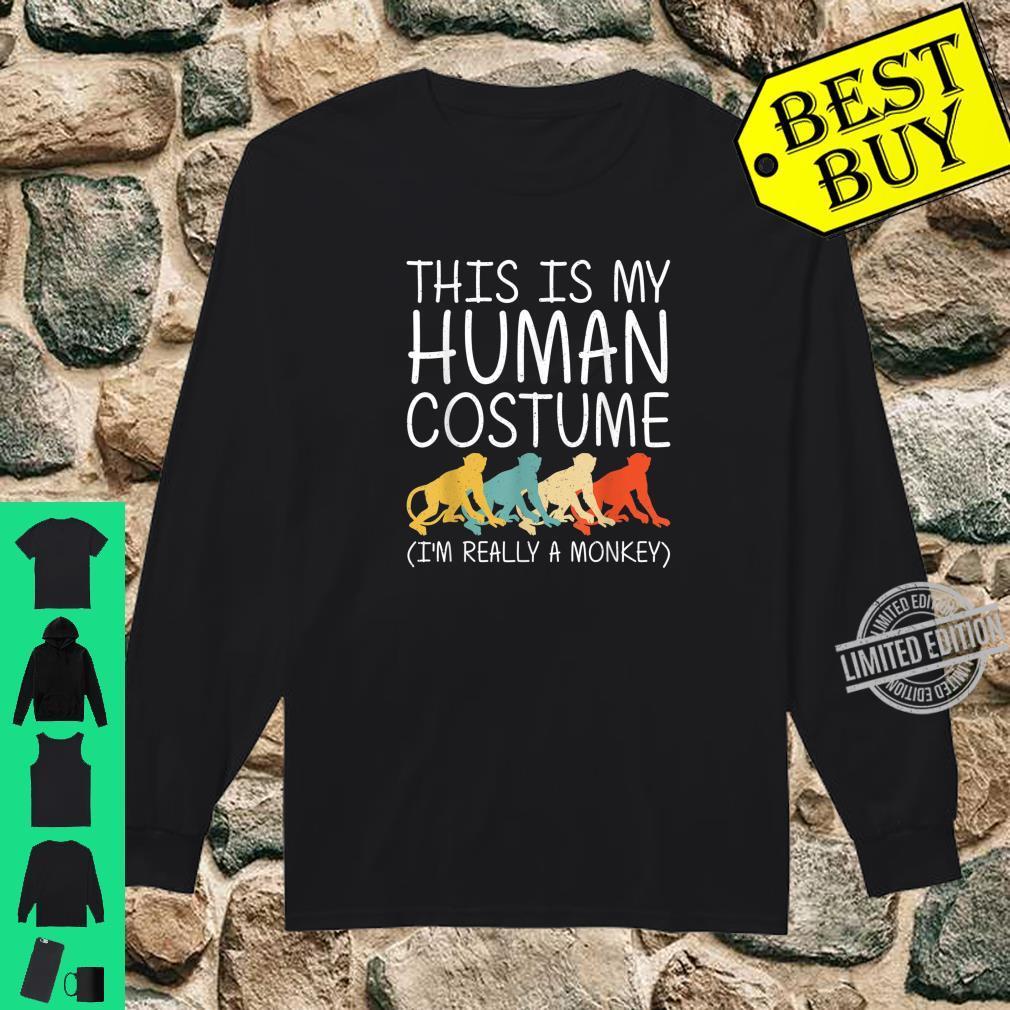 Monkey Halloween Human Costume Primate Baboon Easy DIY Shirt long sleeved