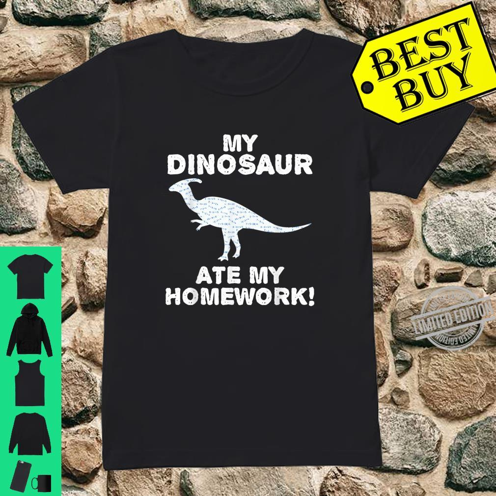 My Dinosaur Ate My Homework Trex Animal Back To School Kid Shirt