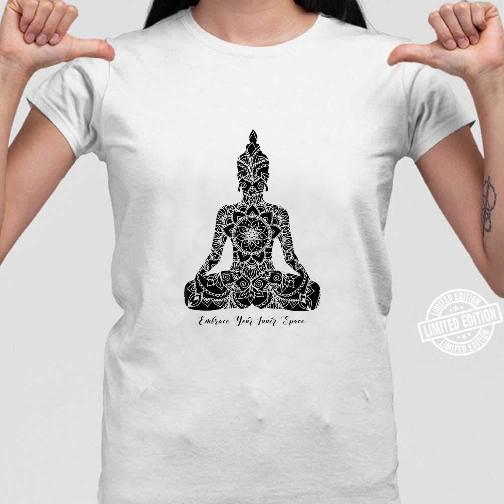 Umfassen Sie den Inneren Raum Chakra Mandala Meditation Yoga Shirt ladies tee