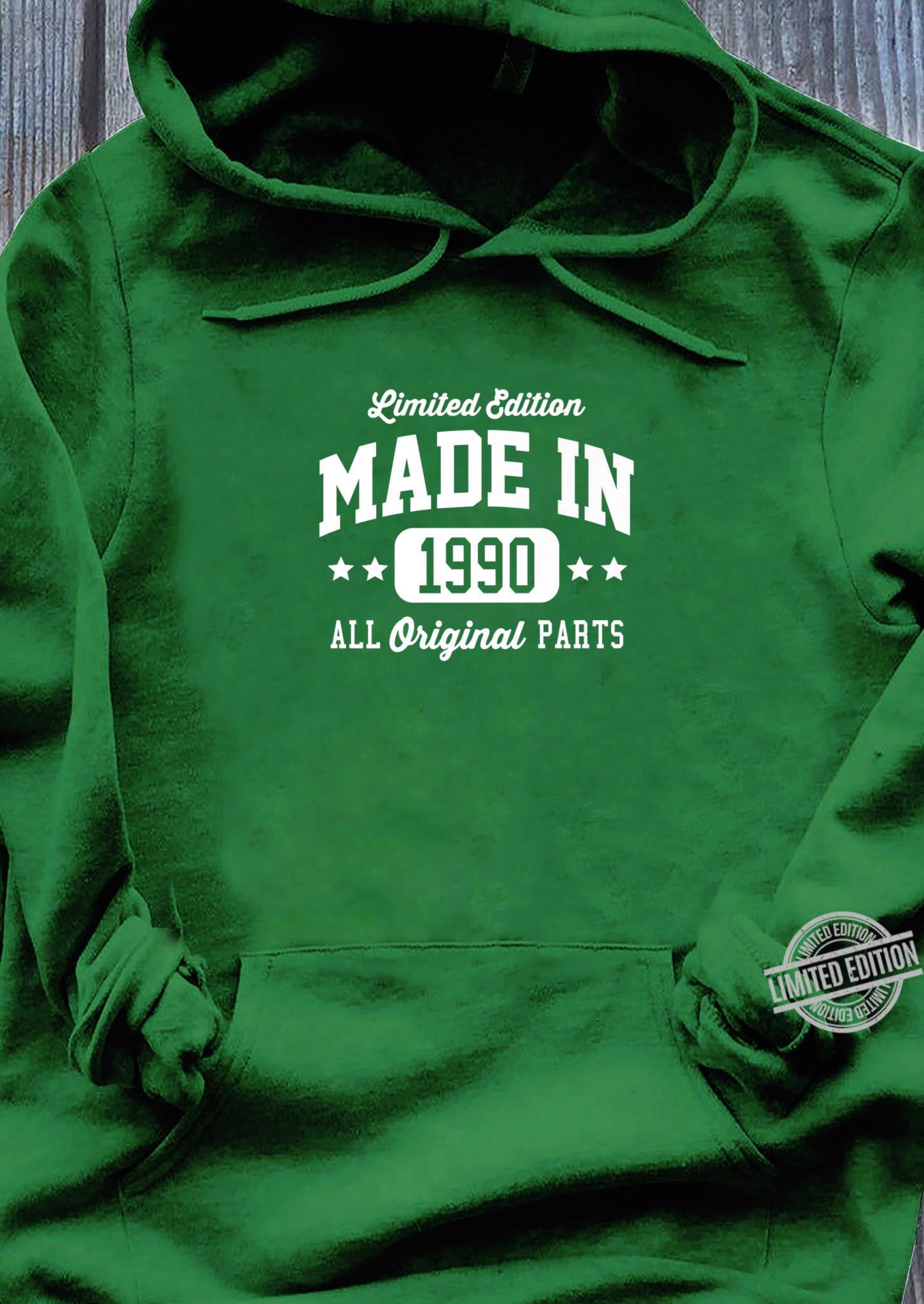 Vintage Made In 1990 Limited Edition Original Parts Dark Shirt hoodie