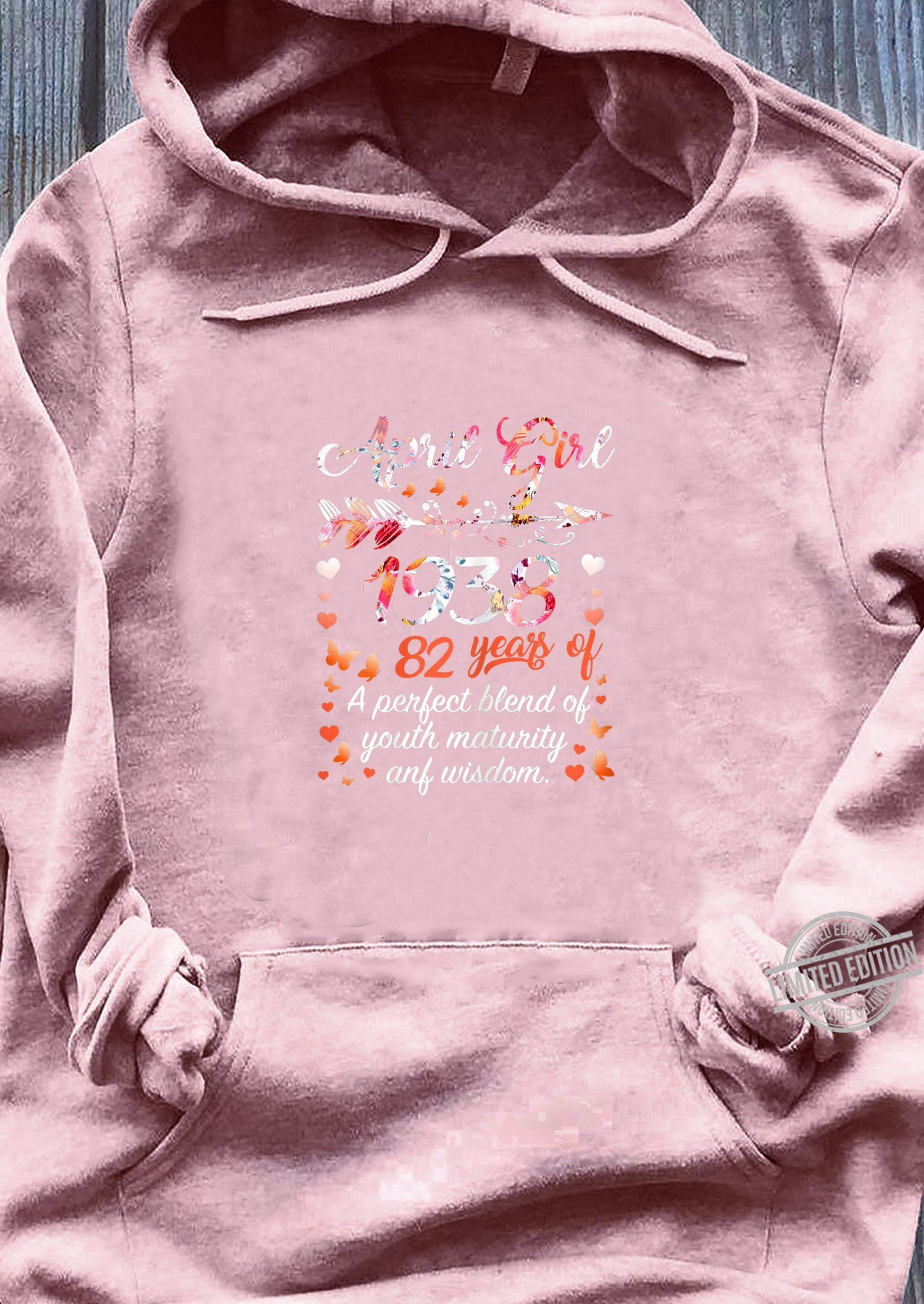 Womens April Girl 1938 82 Years Old 82nd Birthday Shirt sweater