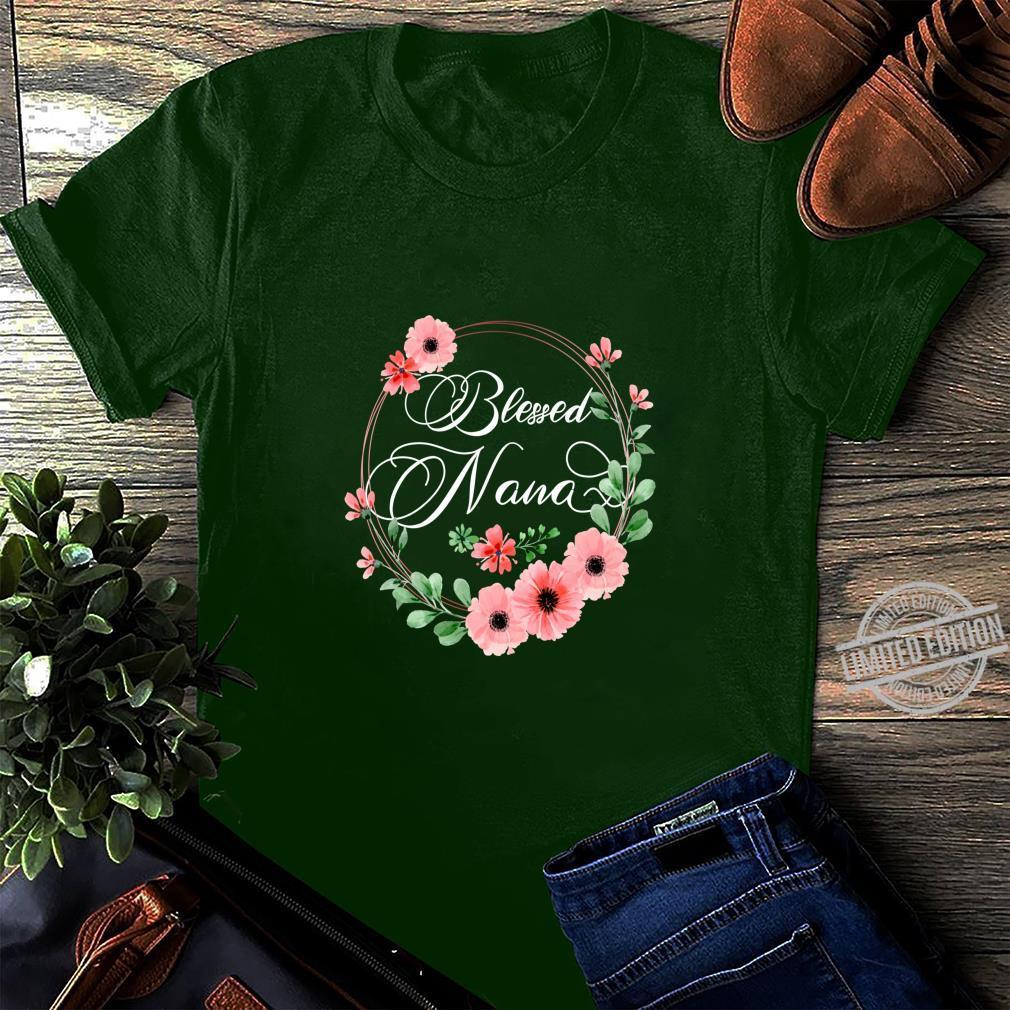 Womens Blessed Nana Floral Grandma Mother's Day Shirt long sleeved